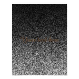 Falln Silver & Black Glitter Gradient Card