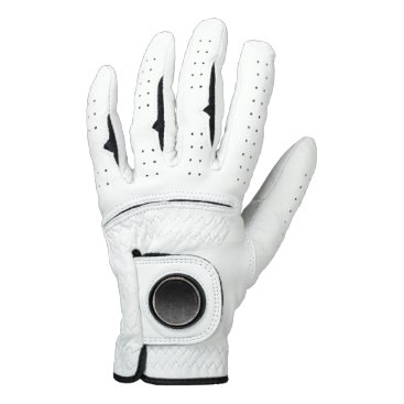 Halloween Themed Falln Silver & Black Glitter Gradient Golf Glove