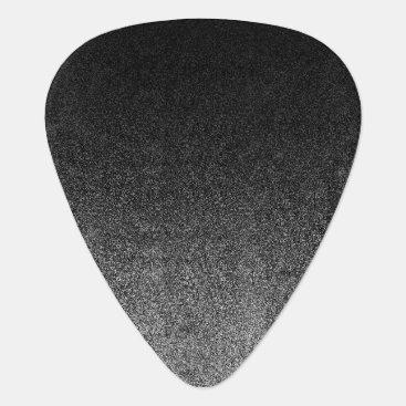 Halloween Themed Falln Silver & Black Glitter Gradient Guitar Pick