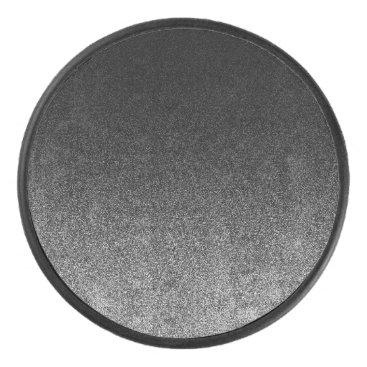 Halloween Themed Falln Silver & Black Glitter Gradient Hockey Puck
