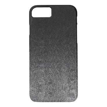 Halloween Themed Falln Silver & Black Glitter Gradient iPhone 8/7 Case