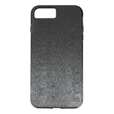 Halloween Themed Falln Silver & Black Glitter Gradient iPhone 8 Plus/7 Plus Case