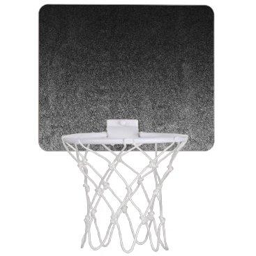 Halloween Themed Falln Silver & Black Glitter Gradient Mini Basketball Backboard