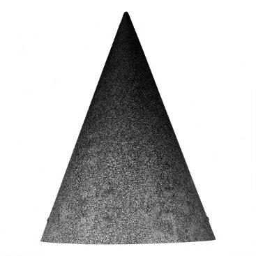 Halloween Themed Falln Silver & Black Glitter Gradient Party Hat