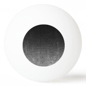 Halloween Themed Falln Silver & Black Glitter Gradient Ping-Pong Ball