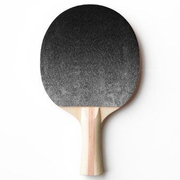 Halloween Themed Falln Silver & Black Glitter Gradient Ping Pong Paddle
