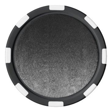 Halloween Themed Falln Silver & Black Glitter Gradient Poker Chips Set