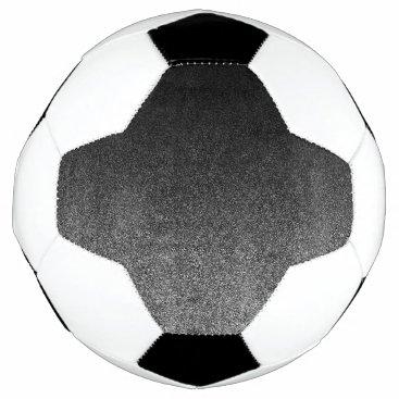 Halloween Themed Falln Silver & Black Glitter Gradient Soccer Ball