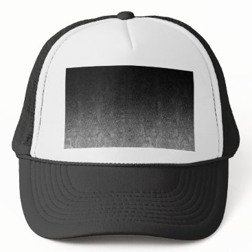 Halloween Themed Falln Silver & Black Glitter Gradient Trucker Hat