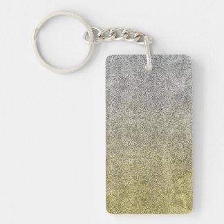 Falln Silver & Gold Glitter Gradient Keychain