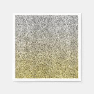 Falln Silver & Gold Glitter Gradient Napkin