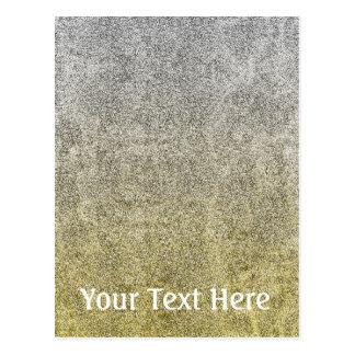 Falln Silver & Gold Glitter Gradient Postcard