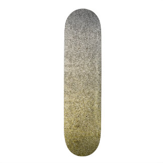 Falln Silver & Gold Glitter Gradient Skateboard Deck