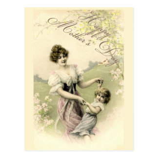 Falln Spring Time Dance Mother's Day Postcard