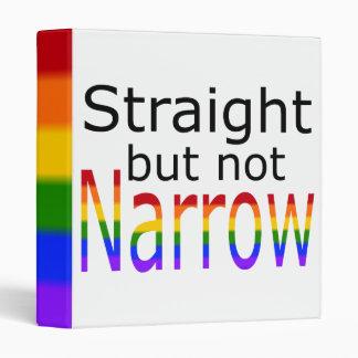 Falln Straight But Not Narrow (black text) 3 Ring Binder