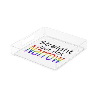 Falln Straight But Not Narrow (black text) Acrylic Tray