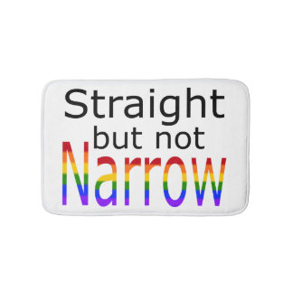 Falln Straight But Not Narrow (black text) Bath Mat