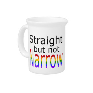 Falln Straight But Not Narrow (black text) Beverage Pitcher