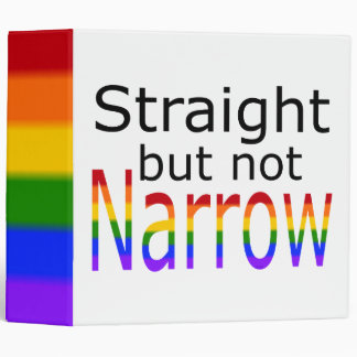Falln Straight But Not Narrow (black text) Binder