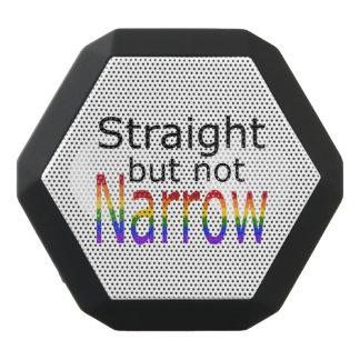 Falln Straight But Not Narrow (black text) Black Bluetooth Speaker