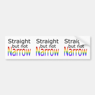 Falln Straight But Not Narrow (black text) Bumper Sticker
