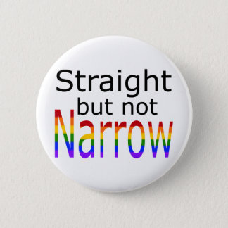 Falln Straight But Not Narrow (black text) Button
