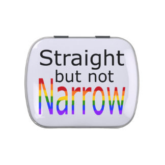 Falln Straight But Not Narrow (black text) Candy Tin