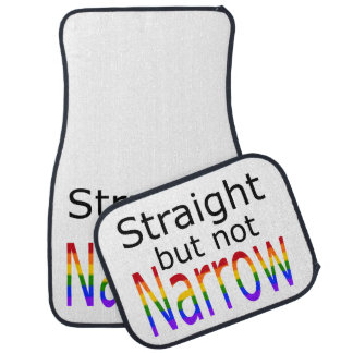 Falln Straight But Not Narrow (black text) Car Floor Mat