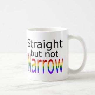 Falln Straight But Not Narrow (black text) Coffee Mug