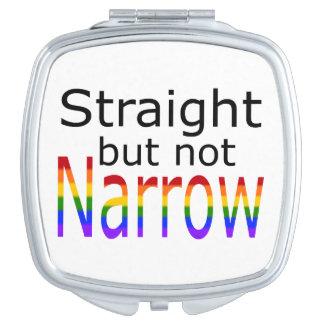 Falln Straight But Not Narrow (black text) Compact Mirror