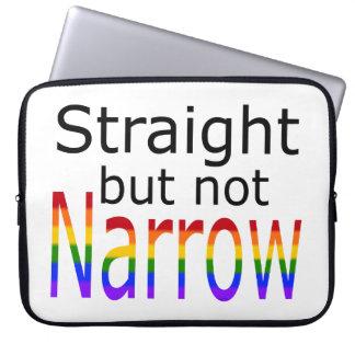 Falln Straight But Not Narrow (black text) Computer Sleeves