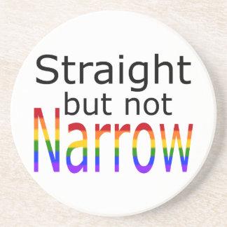 Falln Straight But Not Narrow (black text) Drink Coaster