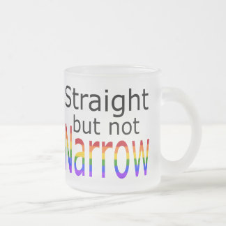 Falln Straight But Not Narrow (black text) Frosted Glass Coffee Mug