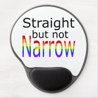 Falln Straight But Not Narrow (black text) Gel Mouse Pad