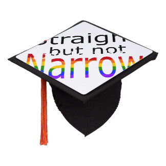Falln Straight But Not Narrow (black text) Graduation Cap Topper