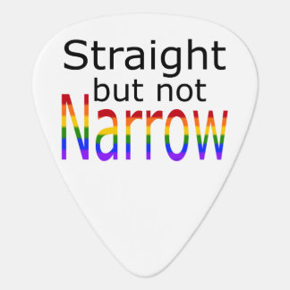 Falln Straight But Not Narrow (black text) Guitar Pick