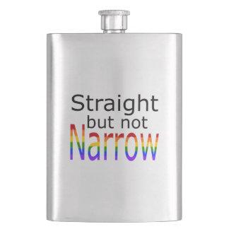 Falln Straight But Not Narrow (black text) Hip Flask