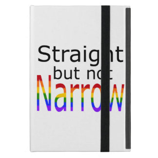 Falln Straight But Not Narrow (black text) iPad Mini Case