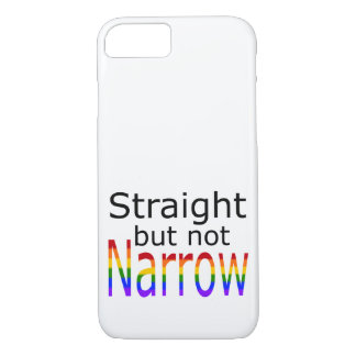Falln Straight But Not Narrow (black text) iPhone 7 Case