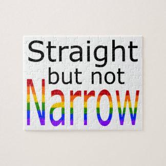Falln Straight But Not Narrow (black text) Jigsaw Puzzle