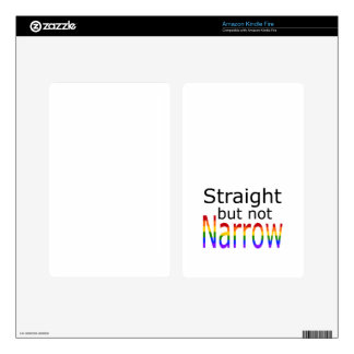 Falln Straight But Not Narrow (black text) Kindle Fire Decals