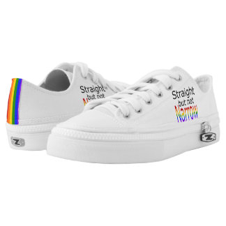 Falln Straight But Not Narrow (black text) Low-Top Sneakers