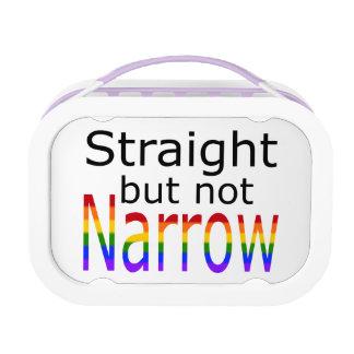 Falln Straight But Not Narrow (black text) Lunch Box