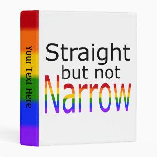 Falln Straight But Not Narrow (black text) Mini Binder