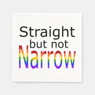 Falln Straight But Not Narrow (black text) Napkin