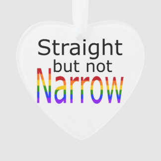 Falln Straight But Not Narrow (black text) Ornament