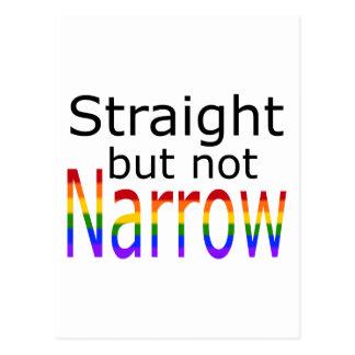 Falln Straight But Not Narrow (black text) Postcard