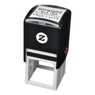 Falln Straight But Not Narrow (black text) Self-inking Stamp