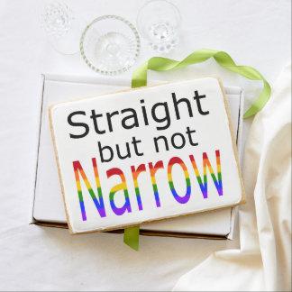 Falln Straight But Not Narrow (black text) Shortbread Cookie