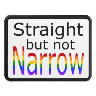 Falln Straight But Not Narrow (black text) Trailer Hitch Cover
